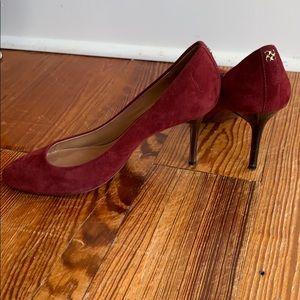 Red Suede Coach heels